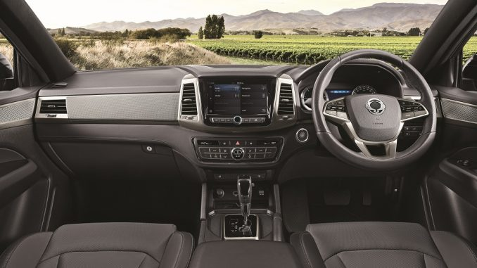 2019 ssangyong musso interior