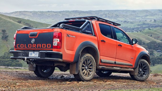 2019 holden colorado z71 xtreme side and rear