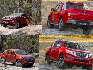 Isuzu D Max LST and Nissan Navara ST-X 4 shot 4WD 600