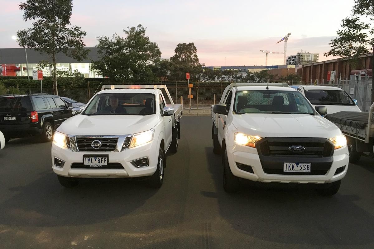 Nissan Navara Rx Cc Ute Vs Ford Ranger Xl Cc Ute