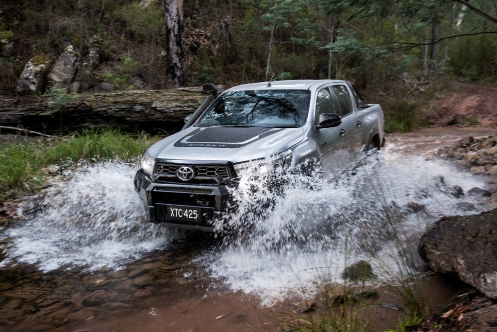 2018 Toyota HiLux Rugged X front water