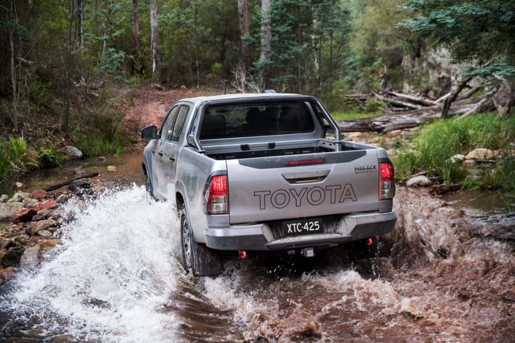 2018 Toyota HiLux Rugged X rear water
