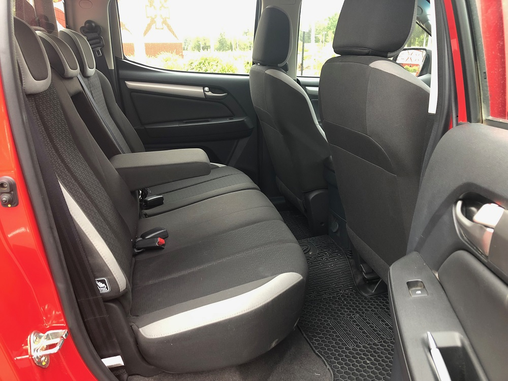 2018 Holden Colorado LT rear seat