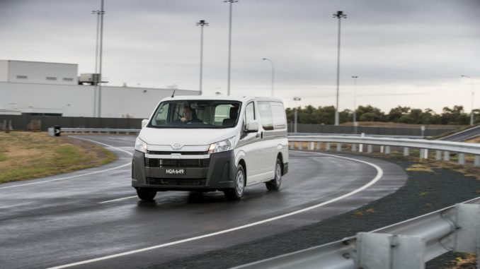 2019 Toyota HiAce LWB Van.