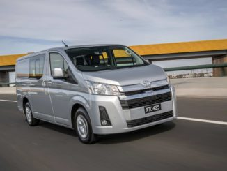 2019 Toyota HiAce LWB Crew Van.