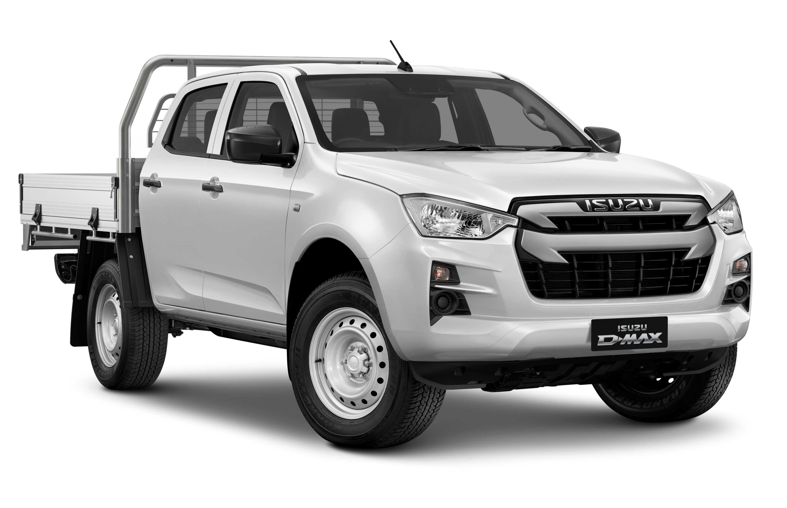 Isuzu D-MAX 21MY 4x4 SX Crew Cab Chassis HDA Tray Mineral White (1)