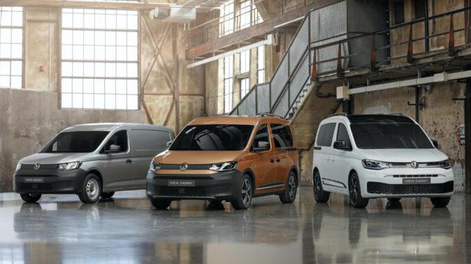 Volkswagen Caddy range.