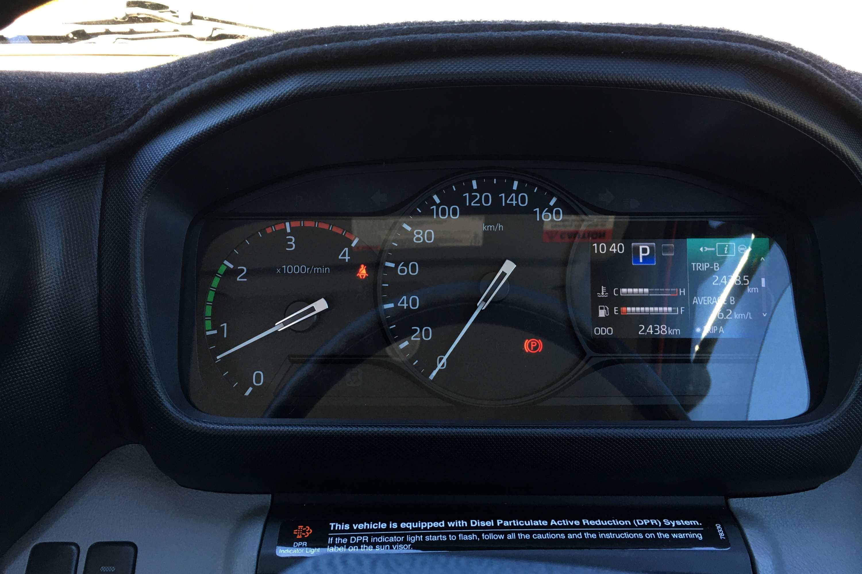 Hino 300 721 Wide Cab dash
