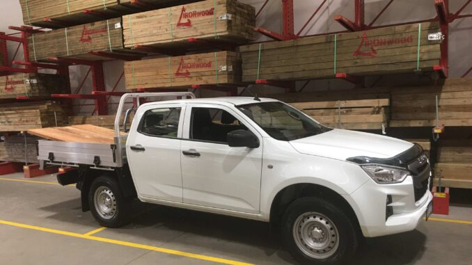 2021 Isuzu D MAX SX Crew Cab 4WD Ute loaded